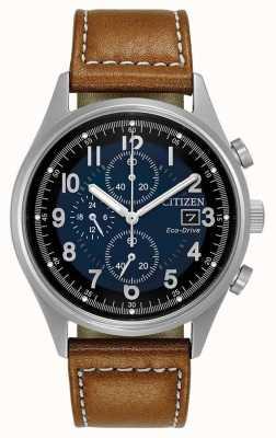 Citizen Mens Eco-Drive chronographe bleu chandler CA0621-05L