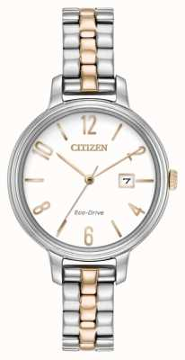Citizen Womans eco-drive silhouette deux tons EW2446-57A