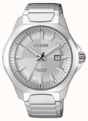 Citizen Mens eco-drive super-titane montre en argent AW1540-88A