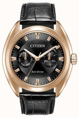 Citizen Mens eco-drive Paradex cuir noir BU4013-07H