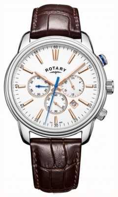 Rotary Chronographe sportif monaco masculin blanc GS05083/06