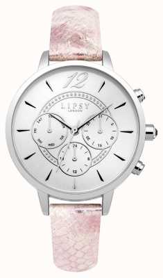 Lipsy Womans bracelet chrono en cuir rose LP506