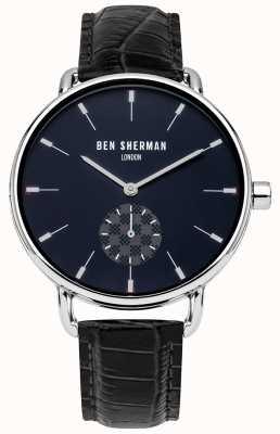 Ben Sherman Montre bracelet en cuir noir londres pour hommes WB063UE