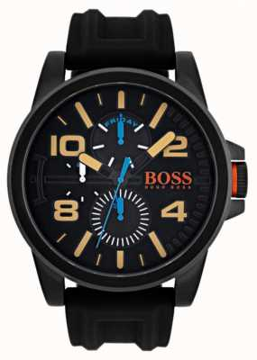 Hugo Boss Orange Mens detroit bracelet en caoutchouc noir 1550011