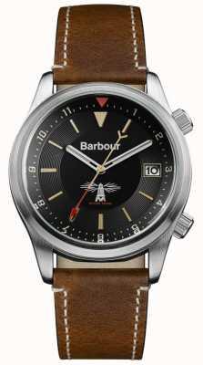 Barbour Mens Seaburn cuir brun noir BB059BKBR
