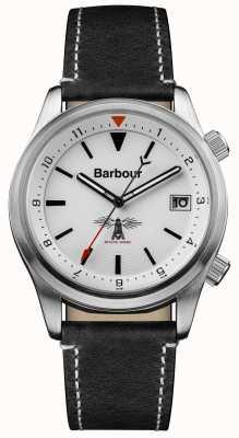 Barbour Mens Seaburn blanc cuir noir BB059WHBK