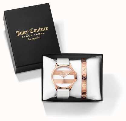 Juicy Couture Womans Fergi blanc or rose bracelet cadeau montre ensemble 1950007