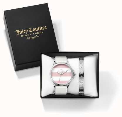 Juicy Couture Womans Fergi blanc bracelet d'argent et de regarder ensemble cadeau 1950009