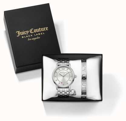 Juicy Couture Womans socialite bracelet d'argent et de regarder ensemble cadeau 1950010