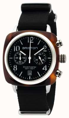 Briston Hommes clubmaster classique acétate chrono tortue coque noire 16140.SA.T.1.NB