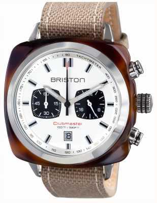 Briston Mens clubmaster sport acétate tortue shell chrono blanc 15142.SA.TS.2.LSK