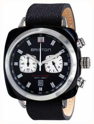 Briston Mens acétate le sport Clubmaster noir chrono 17142.SA.BS.1.NB