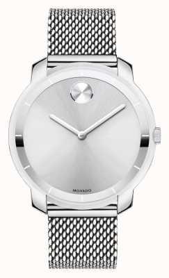 Movado Bracelet maille en acier inoxydable de taille moyenne en gras k1 cristal 3600241