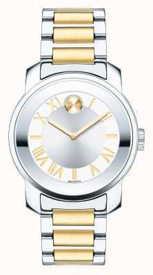 Movado dames moyennes entreprises hardies luxe deux tons cristal k1 3600245