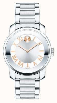 Movado Gras taille moyenne luxe deux argent ton rose cristal goldk1 3600244