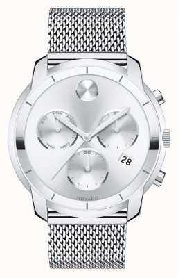 Movado chronographe gras bracelet en maille d'acier inoxydable 3600371