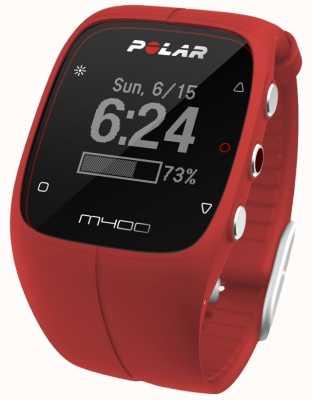 Polar unisexe m400 bluetooth gps (rouge avec hr) activité 90061177