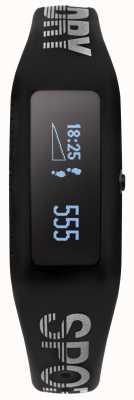 Superdry traqueur de remise en forme unisexe bracelet en silicone noir SYG202B