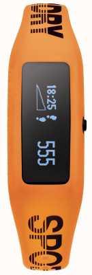 Superdry traqueur de fitness unisexe sangle orange silicone SYG202O