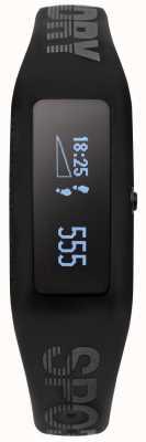 Superdry traqueur de remise en forme unisexe bracelet en silicone noir SYG202BB