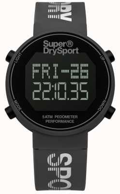 Superdry Unisexe digi podomètre bracelet en silicone gris SYG203E