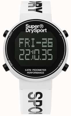 Superdry Unisexe digi podomètre bracelet en silicone blanc SYG203W