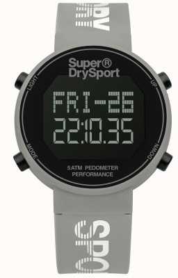 Superdry Unisexe digi podomètre bracelet en silicone gris SYL203E