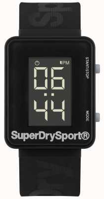 Superdry Courroie de silicone noir synthétique unisexe de sprint de gym SYG204B
