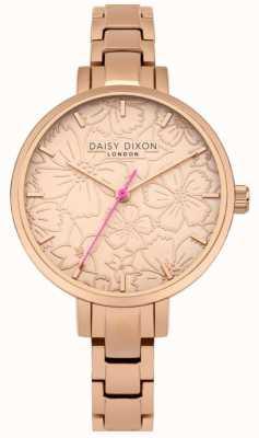 Daisy Dixon Womans leona imprimé floral cadran en or rose DD043RGM