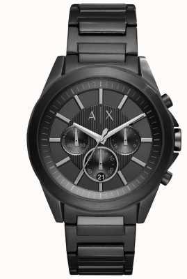 Armani Exchange Acier plaqué noir noir AX2601