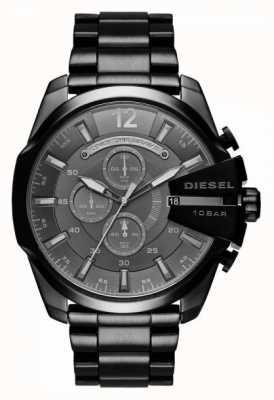 Diesel Montre chronographe méga-homme noir DZ4355