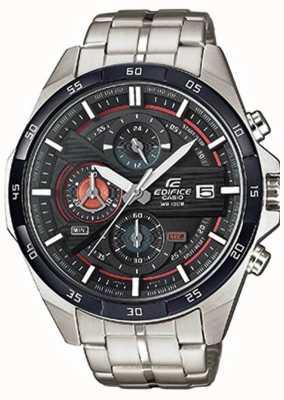 Casio Mens édifice en acier inoxydable cadran noir chrono EFR-556DB-1AVUEF