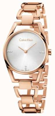 Calvin Klein Womans plaqué rose délicat or K7L2364T