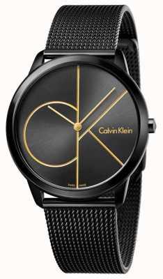 Calvin Klein Maillot minimal en acier inox noir K3M214X1