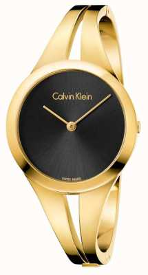 Calvin Klein Womans addict or toned bangle black dial K7W2M511