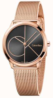 Calvin Klein Bracelet Womans minimal en maille rose doré K3M22621