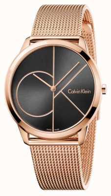 Calvin Klein Maillot noir en maille or rose K3M21621
