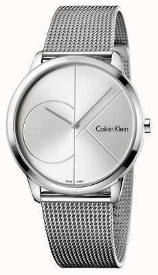 Calvin Klein Bracelet en maille en acier argenté minimal K3M2112Z