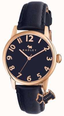 Radley Womans liverpool rue bracelet en cuir bleu marine RY2456