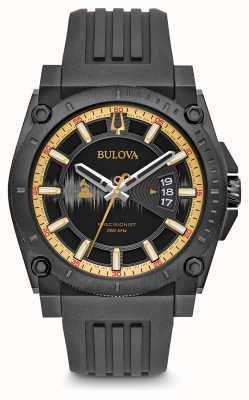 Bulova Edition spéciale grammy précisionniste bracelet en caoutchouc noir 98B294
