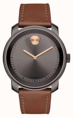 Movado Bijoux en cuir brun marron 3600378