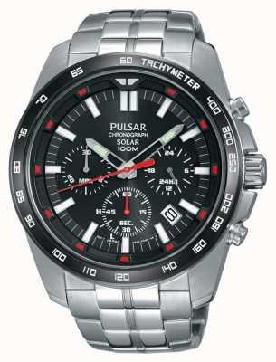 Pulsar Chronomètre noir pour homme en acier inoxydable en acier inoxydable PZ5005X1