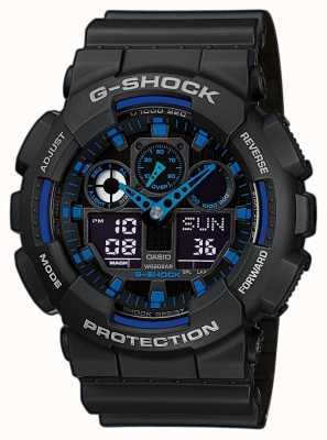 Casio Mens g-shock bleu alarme chronographe GA-710-1A2ER