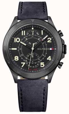 Tommy Hilfiger Bracelet en cuir noir noir 1791345