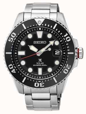 Seiko Mens Prospex plongeurs solaires bracelet en métal SNE437P1
