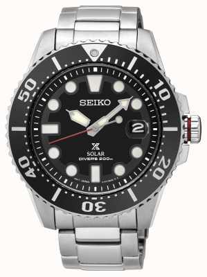 Seiko | prospex | solaire | plongeur | bracelet en métal | cadran noir | sne551p1 SNE437P1