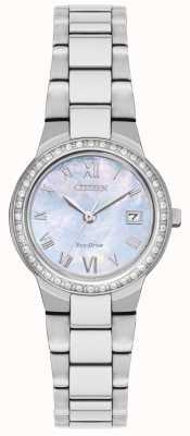 Citizen Womens eco-drive cas de cristal montre EW1990-58D