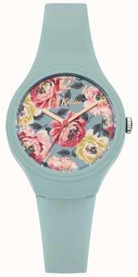 Cath Kidston Womans sarcelle silicone bracelet imprimé floral cadran CKL029AU