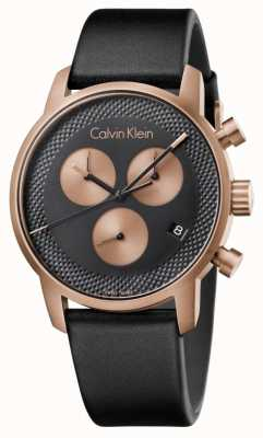 Calvin Klein Montre homme chronographe ville cadran bleu noir ex-display K2G17TC1 Ex-Display