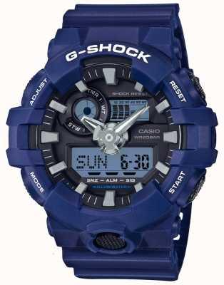 Casio Mens g-shock bleu alarme chronographe GA-700-2AER